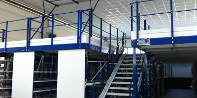 Storage mezzanines and elevated walkways